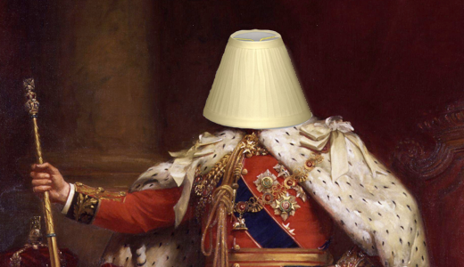 I hereby declare lamp shade crowns to be hilarious!