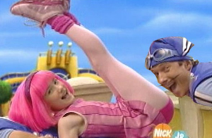 Speaking of semi-pedo weirdos, someone online once pointed out that Lazy Town is a very pervy show. I dismissed that as just normal internet bullshit, but the next time it came on for my kids... Seriously, it's pretty fucking disturbing and full of innocent acts that just look... wrong. I don't let my kids watch it any more, which makes zero sense. It just creeps me out.