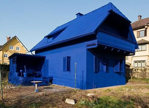 Although, wow, that house is really, really blue!