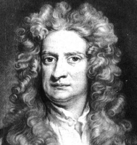 Sir Isaac Newton, inventor of physics, calculus, and rotating anal beads.