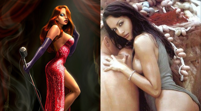 Jessica Rabbit and Mara Rosaria Carfagna, my cellmates.