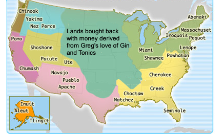 It is estimated that if Greg's drinking continues unabated, the National Anthem will be sung in Hopi by the year 2014.