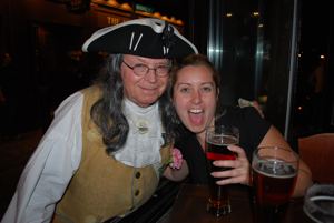 Ben Franklin has the ale AND the comely lasses!