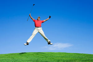 Yes! Take that, Tiger Woods, you no-good, not-getting laid, black-guy golfer! I rule!