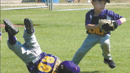 Believe it or not, this is in the tee-ball hall of fame for most graceful play