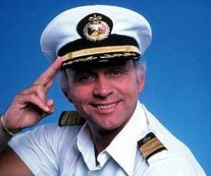 Gavin MacLeod. Yes, I used to stalk the Love Boat's Captain Steubing. What else was I supposed to do? I'm pretty sure the guy was drinking all my beer. Well, someone was!