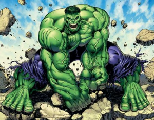 AUUUGGGHHH! HULK SMASH CROTCH WITH ROCK!