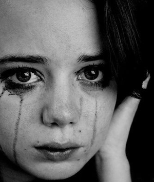 Not my daughter. When my daughter is crying, she cannot be photographed. There is so much running makeup that her face looks like a charcoal briquet.