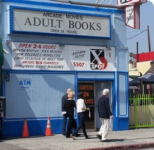 Yes, kids, before the internet, this is where your dad went to buy porn.