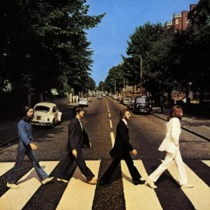 The Beatles, on their way to buy Paul some fucking shoes.
