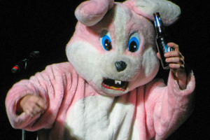 No, I don't have any fucking candy for you kid! Now go get the bunny another beer before I fill your basket with pellets.
