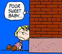 Actually, that looks like Charlie Brown in drag, which would be par for the course.