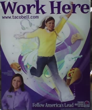 Run! Run like hell! The Taco Bell recruiter is coming for you!