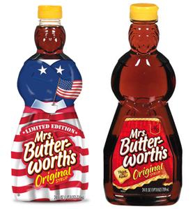 I'm as patriotic as the next guy, but I still prefer the classic, topless Mrs. Buttersworth.