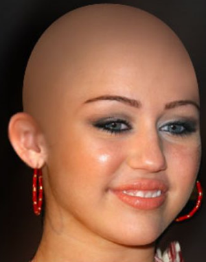 Yes, I was going to go bald. Very bald. Miley Cyrus bald.