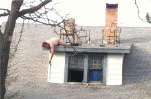 Of course, we were always very careful when we partied on the roof.