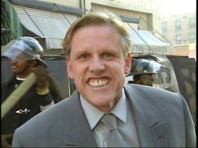 Gary Busey fists horses.