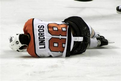 Sadly, Eric Lindros' father never had this discussion with him. (Hockey humor: Because fourteen people can't be wrong!)
