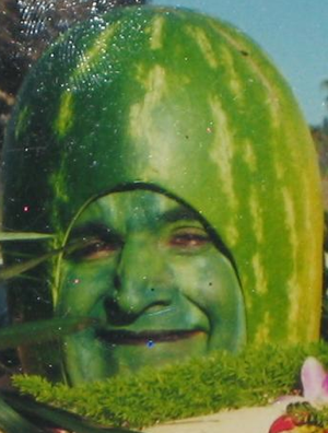 My friend never recovered. He made a living for a while touring state fairs until one day someone poked a hole in his head and poured a gallon of vodka on his brain. RIP, Charlie-Melon!
