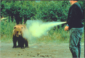 They also recommend using bear spray for bears, but after five or six trials with my kids, I can't in good conscience recommend it.