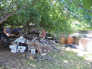 """Well at least clean up the trash in the yard. The neighbors have been...""<br/>""Sacred!"""