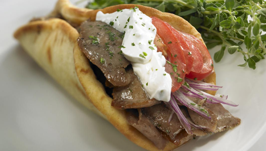 I love gyros so much, I'd make love to them if I could. Alas, they are motherfucking HOT!