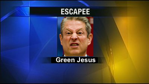 Police seek escapee, who is probably on foot, riding a bike, or maybe driving a stolen Prius.