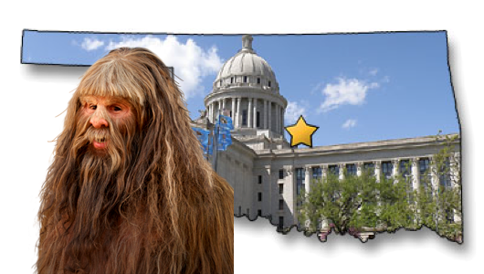 Strangely enough, the official Oklahoma mythical creature is the Yeti.