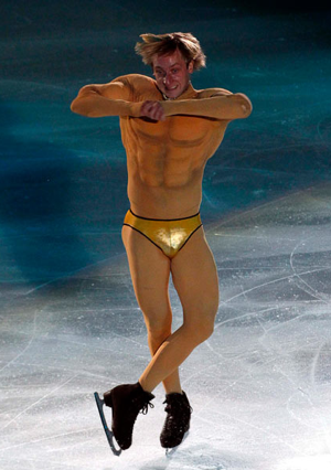 You, uhhh, may want to stay away from the police in Sochi, muscle boy.