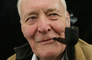 This is Tony Benn. What the hell, I'd vote for him based solely on his resemblance to Hugh Hefner. (This would put me in the top 5% of informed voters.)