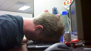 Surprisingly, I average 50 wpm in this position.