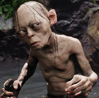 Gollum's Grooming Tips #37 - Yes, my Precious! First we lathers, then we rinses, then we repeats! Oh yes, my Precious! We repeatses! Not like that fat, tricky hobbit! Oh, he hurts us, yes he does, my Precious! We will make him pay. We will make them all pay, my Precious!