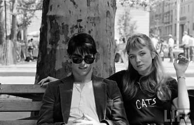 "For those of you too young to remember, Rebecca De Mornay is an entertainer or ""actress"" whose career ""peaked"" in the early 90's. Here she is pictured with noted ""heterosexual"" Tom Cruise."