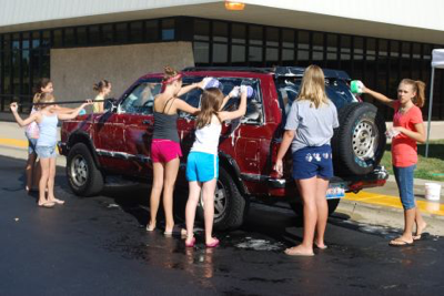 Pro Tip: This does NOT go down well at a charity car wash.