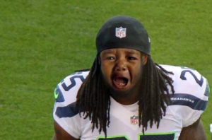 No, don't cry baby Sherman!