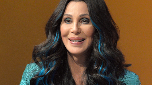 Yes, blue streaks in your hair totally makes you look 70 years younger, Cher.