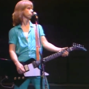 Tommy Shaw, who was apparently unaware that even in the 1970s, aquamarine jumpsuits weren't a good idea.